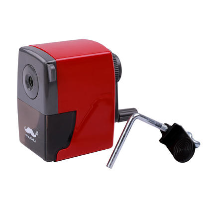 Manual Pencil Sharpener with Desk Clamp - Moustache@ - Red