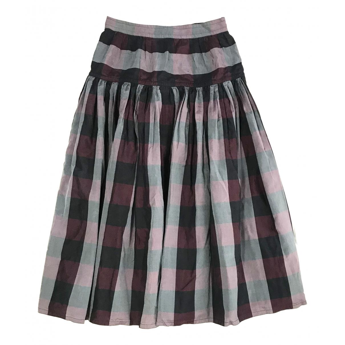 Jil Sander \N Purple Silk skirt for Women 38 FR