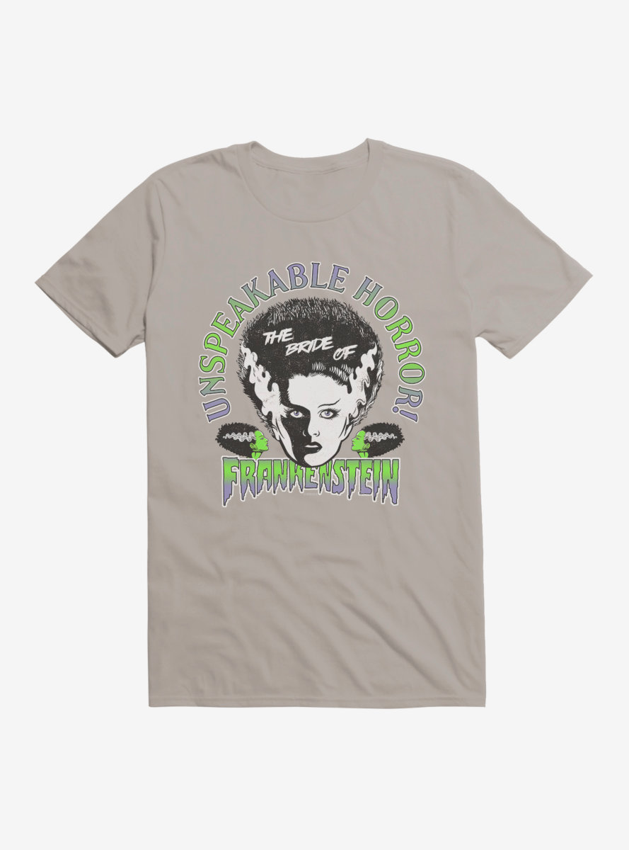 Universal Monsters Bride Of Frankenstein Unspeakable Horror T-Shirt