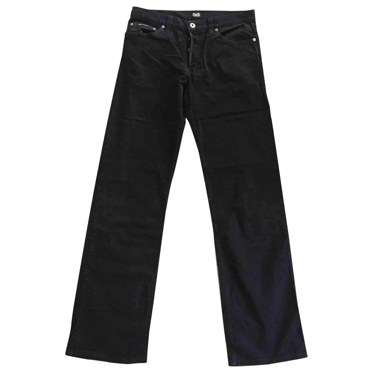 D&g \N Black Cotton Trousers for Men M International