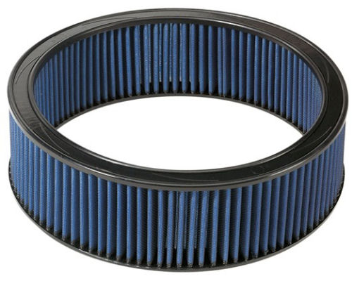 aFe Power Magnum FLOW Round Racing Pro 5R Air Filter 16.13 inch OD x 14.56 inch ID x 3.55 inch H with Expanded Metal