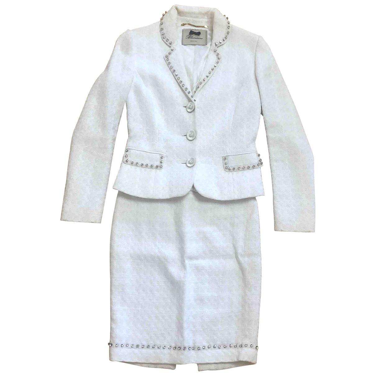 Blumarine \N White Cotton dress for Women 40 IT