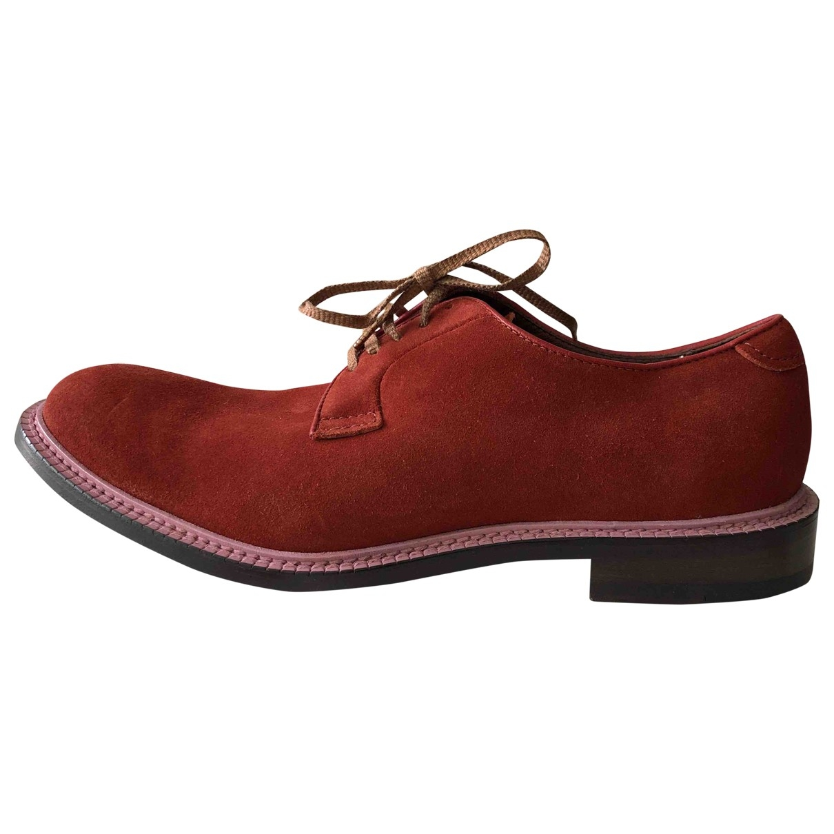 Acne Studios \N Red Suede Lace ups for Men 44 EU
