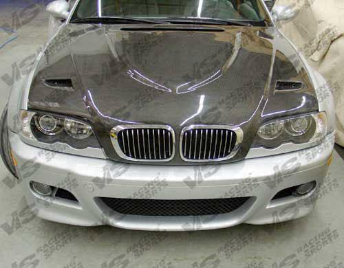 VIS Racing 99BME464DEUR-010C Carbon Fiber Euro R Style Hood BMW 330xi E46 4dr 2001