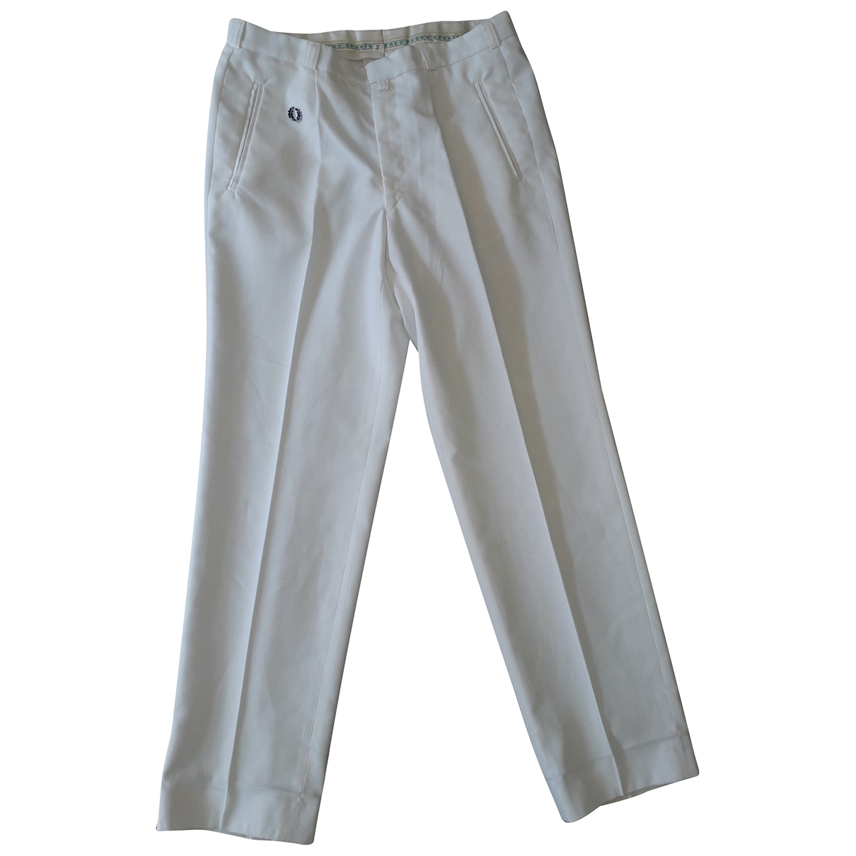 Fred Perry \N White Cotton Trousers for Women 46 FR