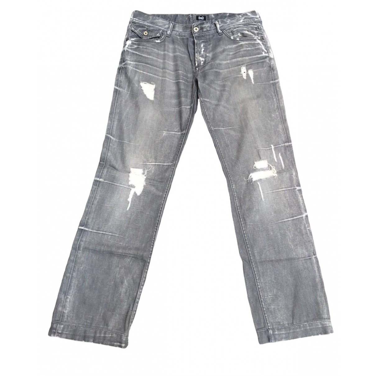 D&g \N Grey Cotton Jeans for Men 34 US