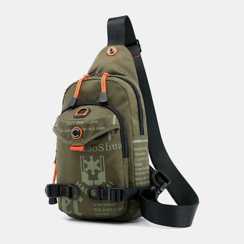 Men Waterproof Multifunctional Outdoor Chest Bag Crossbody Bag