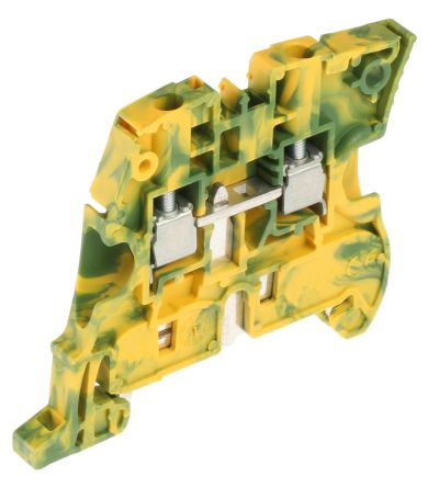 Entrelec ATEX, ZS4 Standard Din Rail Terminal, Screw Clamp Termination, Green/Yellow (5)