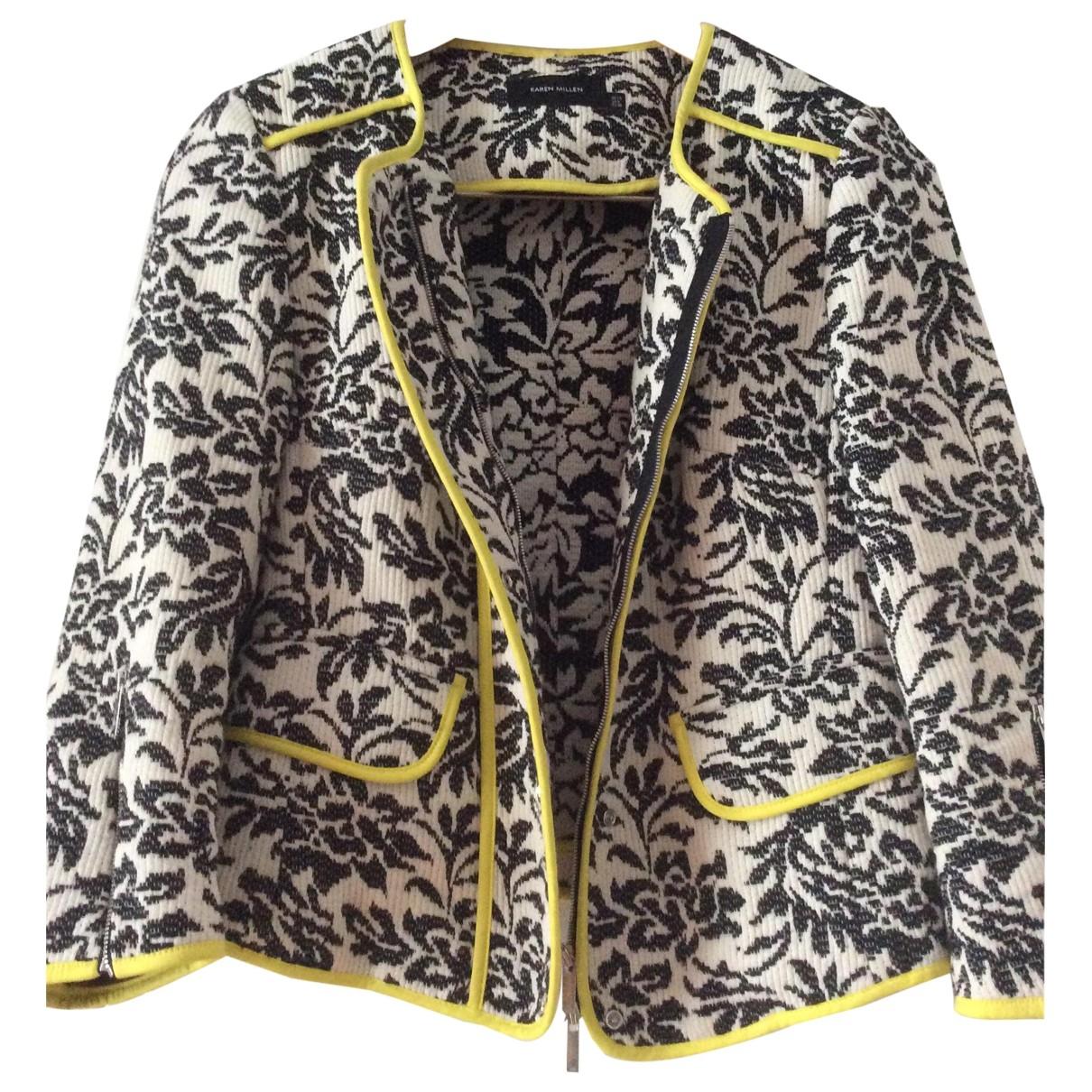 Karen Millen \N White Cotton jacket for Women 10 UK