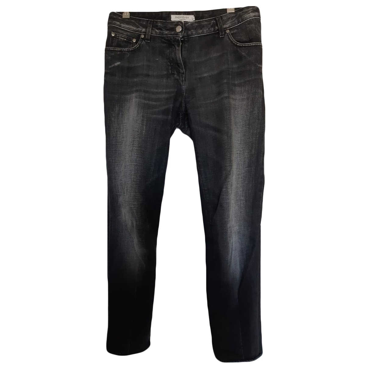 Yves Saint Laurent \N Anthracite Cotton Jeans for Women 30 US