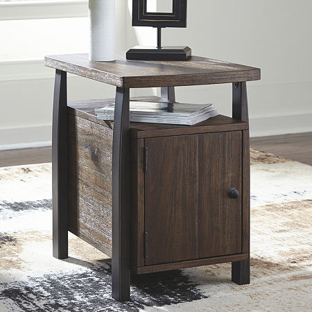 Signature Design by Ashley Vailbry Chairside Table, One Size , Brown