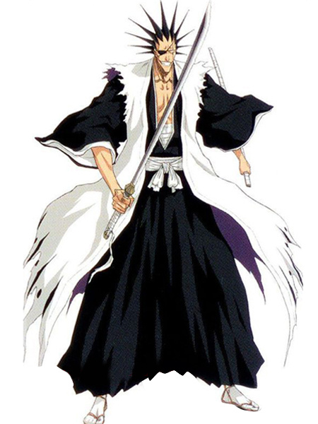 Milanoo Bleach Zaraki Kenpachi Cosplay Halloween Costume 7th Division Captain Cosplay Costume Halloween