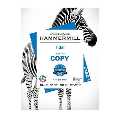 Multipurpose Paper HammerMill@ Tidal@ pour imprimantes jet d'encre, imprimantes laser et copieurs - Emballage de 500, format Lettre