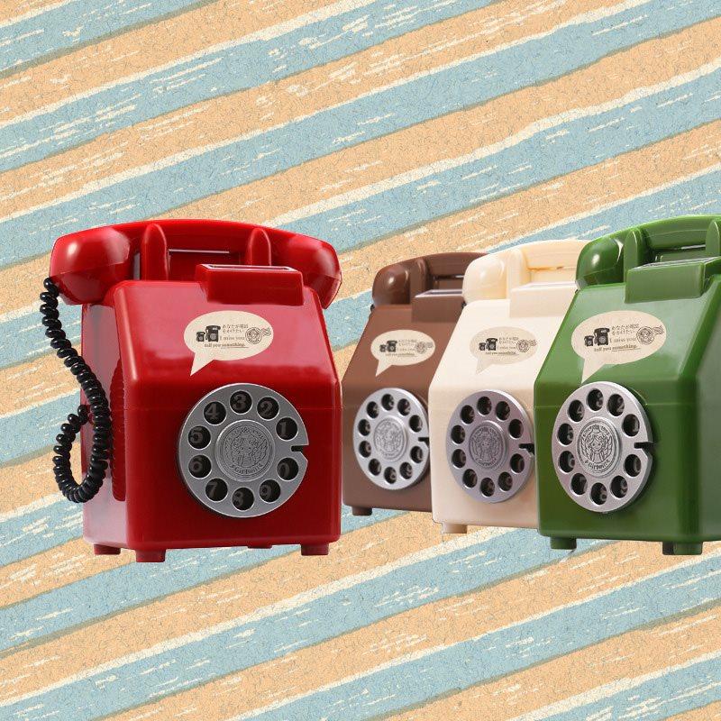 Nostalgic Telephone Piggy Bank Plastic Storage Boxes Children's Creative Gifts
