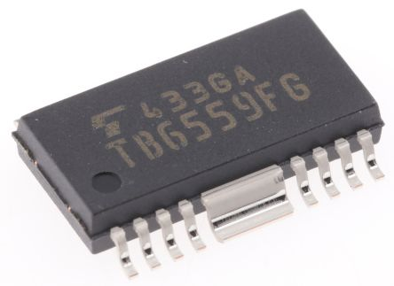 Toshiba TB6559FG(O,8,EL),  Brushed Motor Driver IC, 30 V 2.5A 18-Pin, HSOP (2)