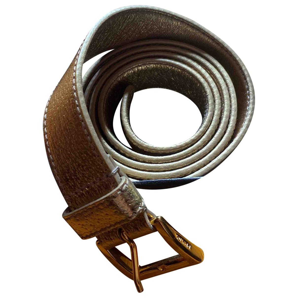 Prada \N Gold Leather belt for Women 90 cm