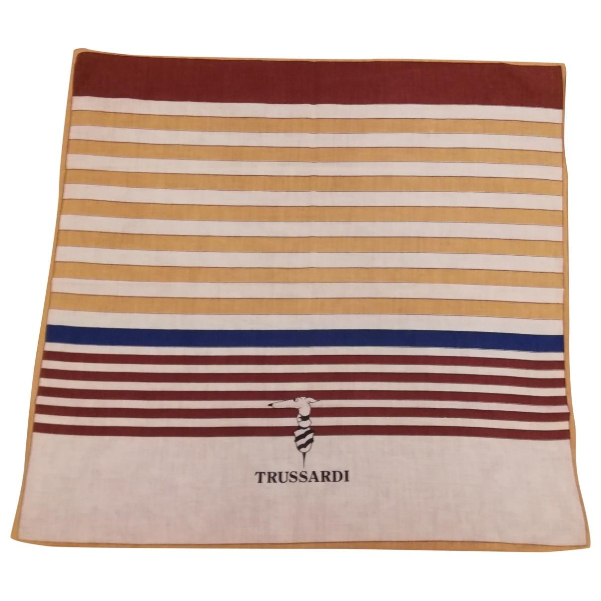 Trussardi \N Brown Cotton scarf for Women \N