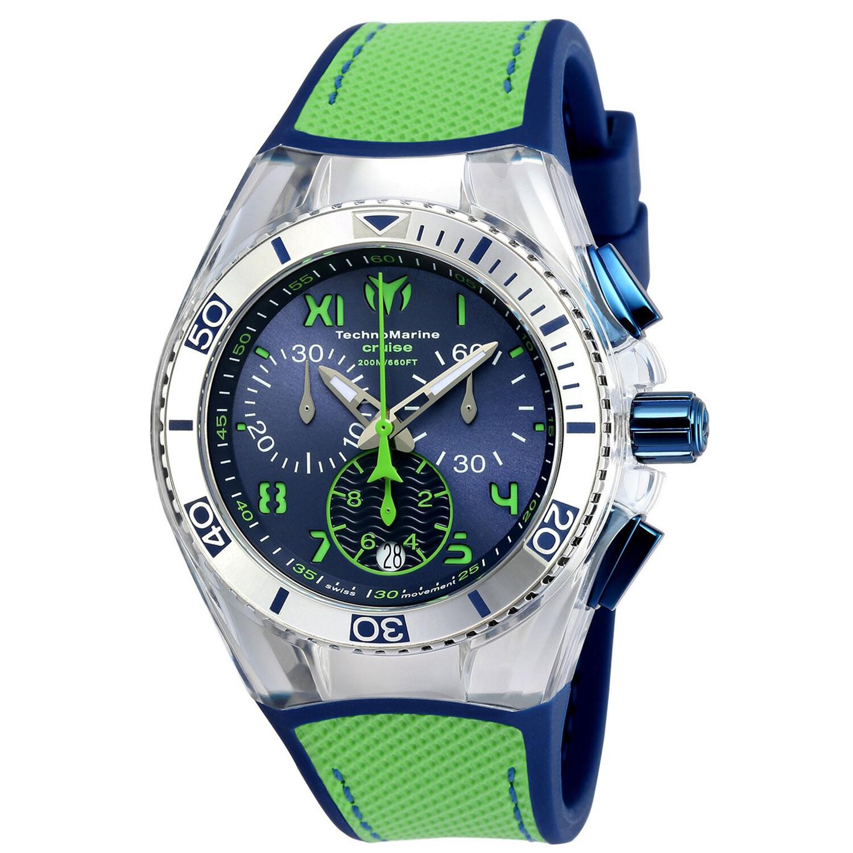 Technomarine Cruise California TM-115019 Green Silicone Quartz Fashion Watch
