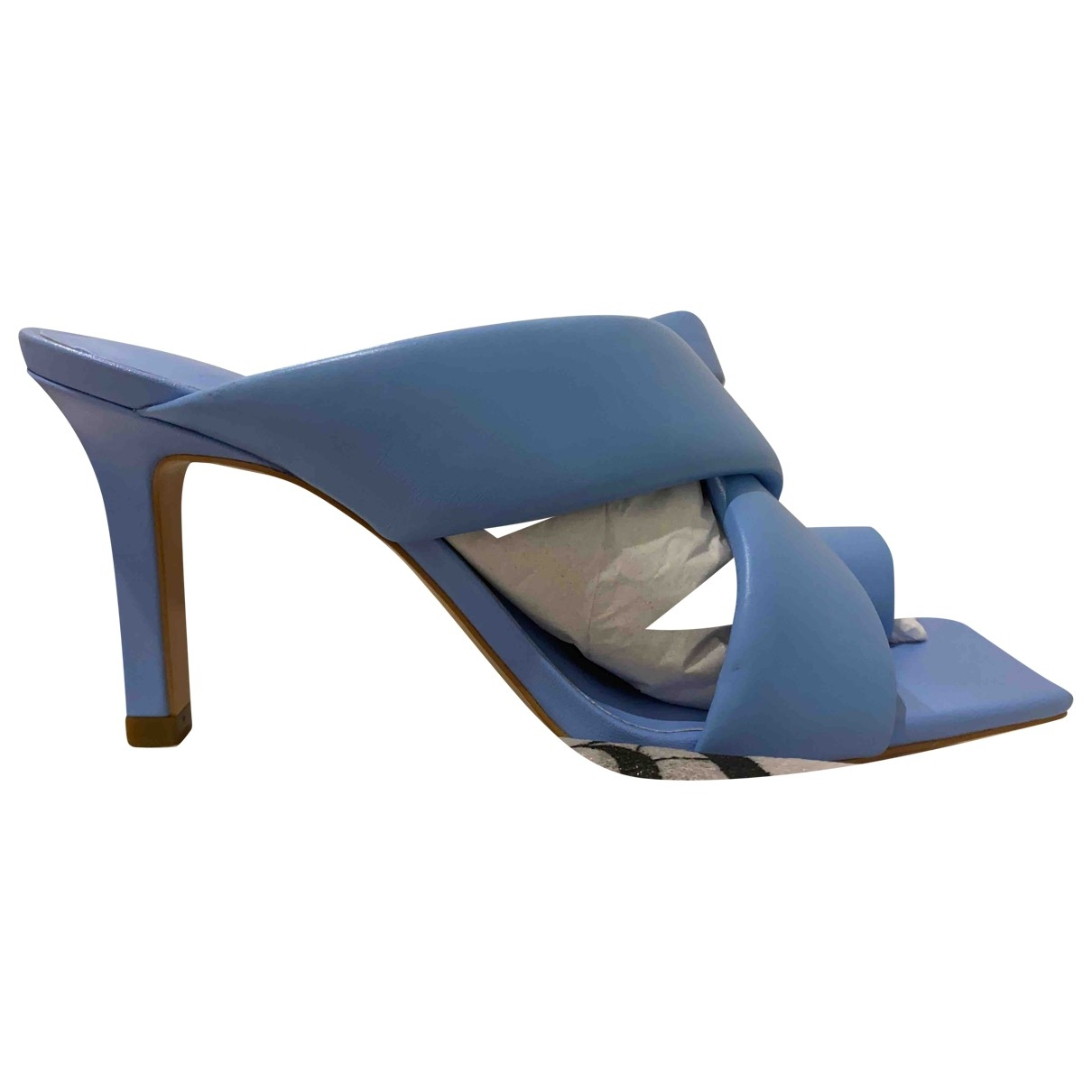 Zara \N Turquoise Leather Mules & Clogs for Women 38 EU