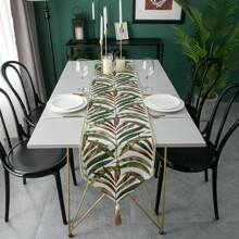 Leaf Print Table Runner