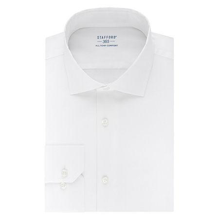 Stafford 365 All-Temp Comfort Flex Collar Regular Wrinkle Free Mens Spread Collar Long Sleeve Wrinkle Free Stretch Cooling Dress Shirt, 15-15.5 34-35,