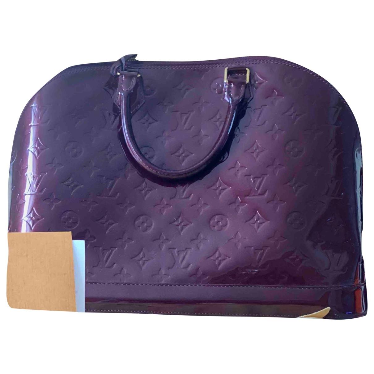Louis Vuitton Alma Red Patent leather handbag for Women \N