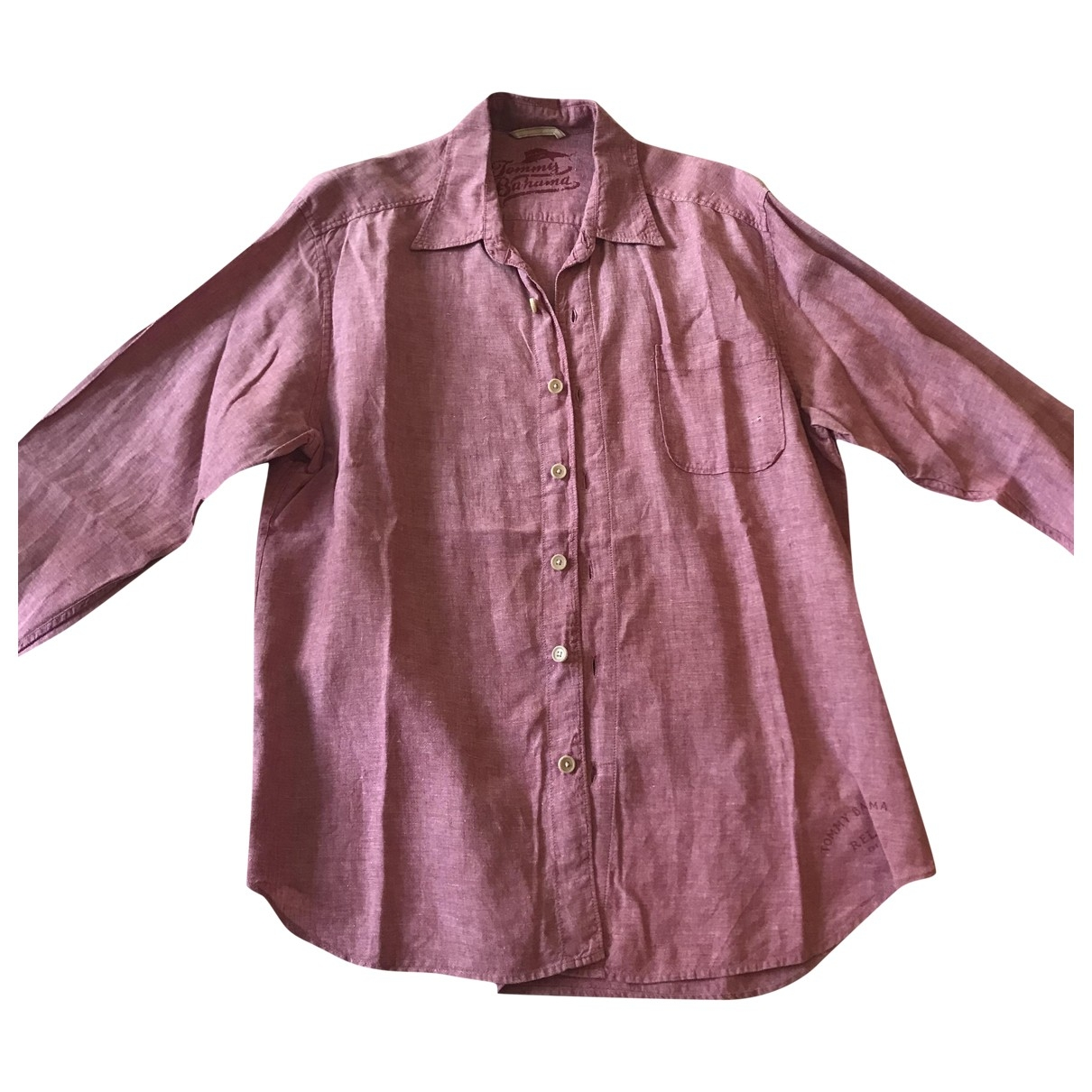 Non Signé / Unsigned \N Pink Linen Shirts for Men L International
