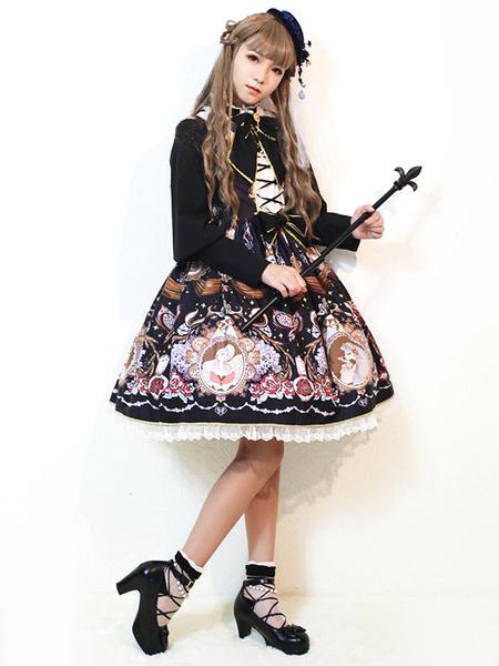 Milanoo Classic Lolita Jsk Jumper Skirt Midnight Of Opera House Jsk Original Design
