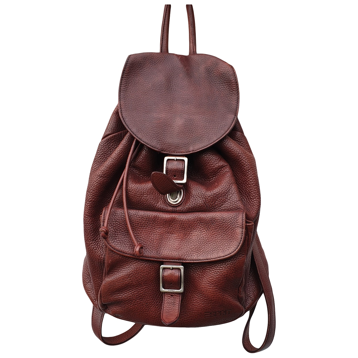 Non Signé / Unsigned Hippie Chic Burgundy Leather backpack for Women \N