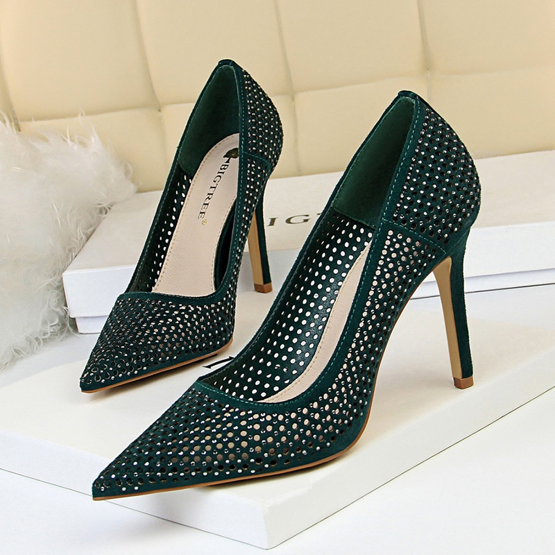 Ericdress Slip-On Stiletto Heel Pointed Toe 9.5cm Thin Shoes