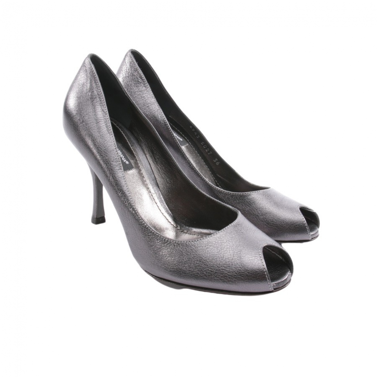 Dolce & Gabbana \N Grey Leather Heels for Women 36 EU
