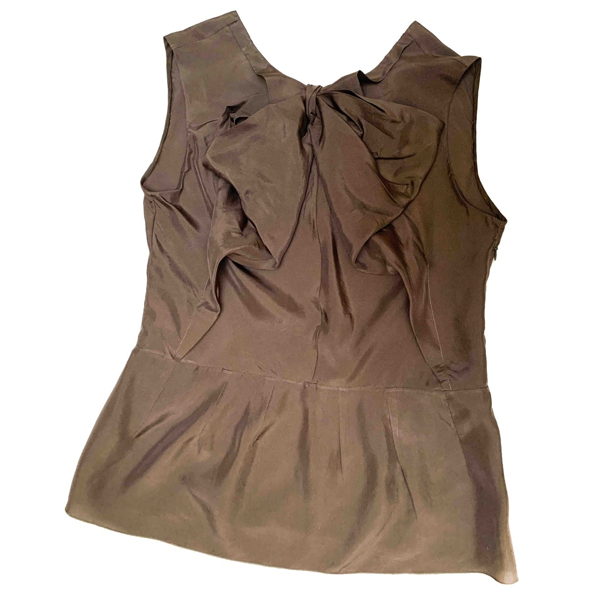 Marni \N Brown Silk  top for Women 40 IT