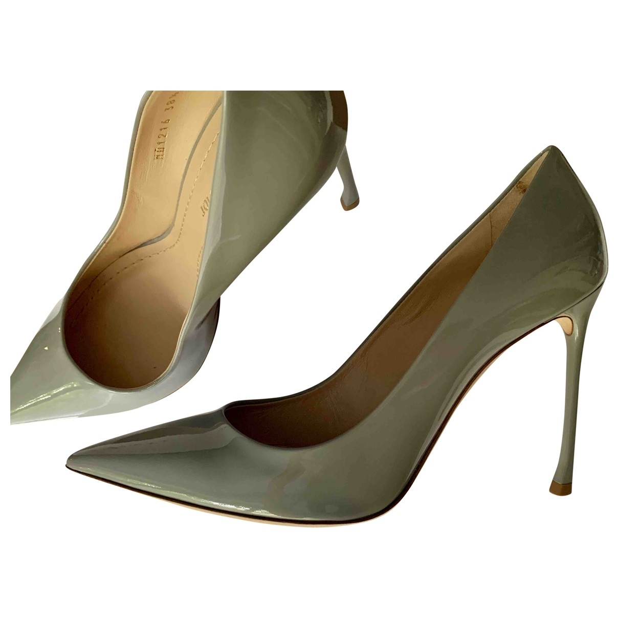 Dior \N Grey Patent leather Heels for Women 38.5 EU