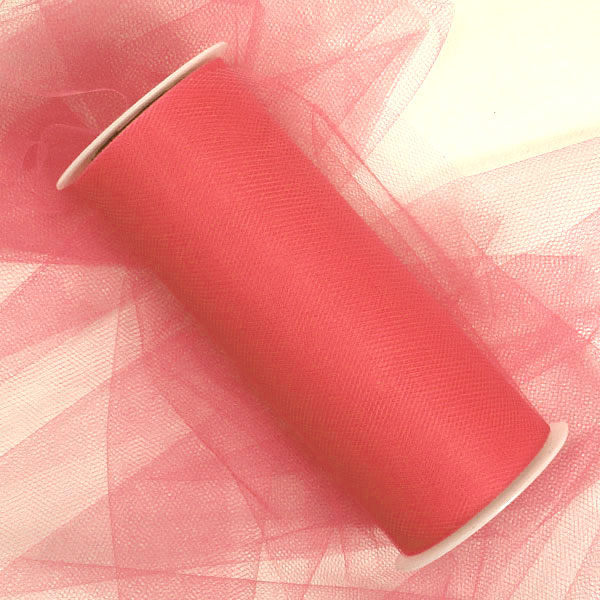 Fabric Cloth Coral Tulle Rolls 18