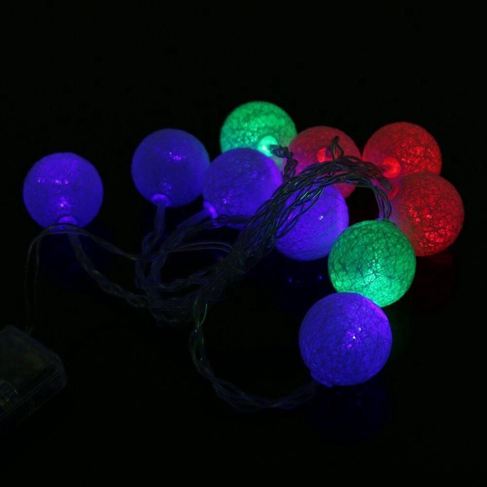 20 LEDs LED Battery LED String Lights for Holiday Christmas Party Garden Decoration Lights (2.3 Meters) - Multi-colour