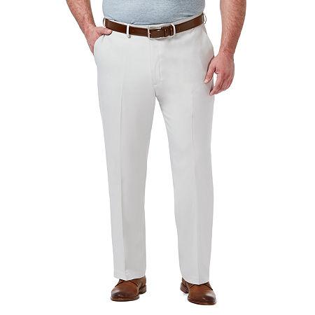 Haggar-Big and Tall Premium Comfort Dress Pant Mens Regular Fit, 44 32, White