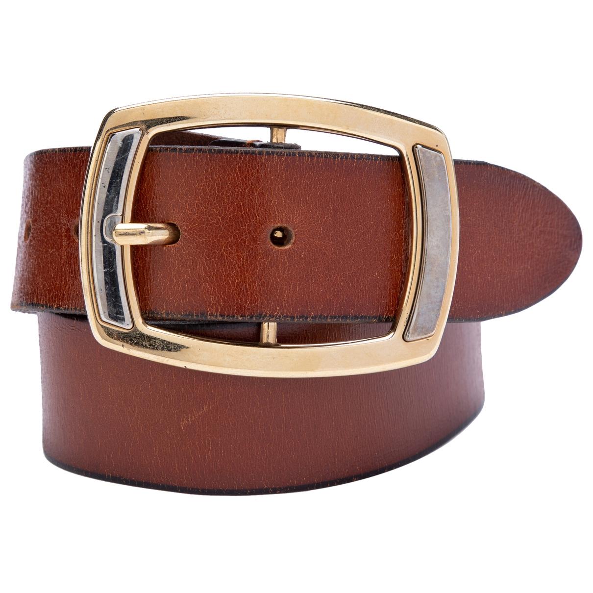 Dolce & Gabbana \N Brown Leather belt for Men 85 cm