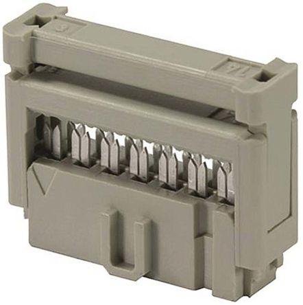 HARTING 6-Way IDC Connector Socket, 2-Row (10)