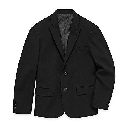Van Heusen Little & Big Boys Regular Fit Suit Jacket, 8 , Black