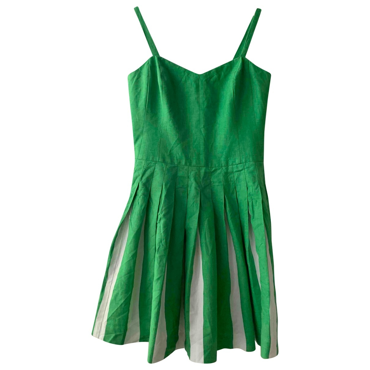 Non Signé / Unsigned \N Green Linen dress for Women 12 UK