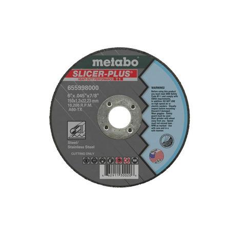 Metabo 4-1/2 In. x 0.045 In. x 7/8 In. Slicer Plus Type 1