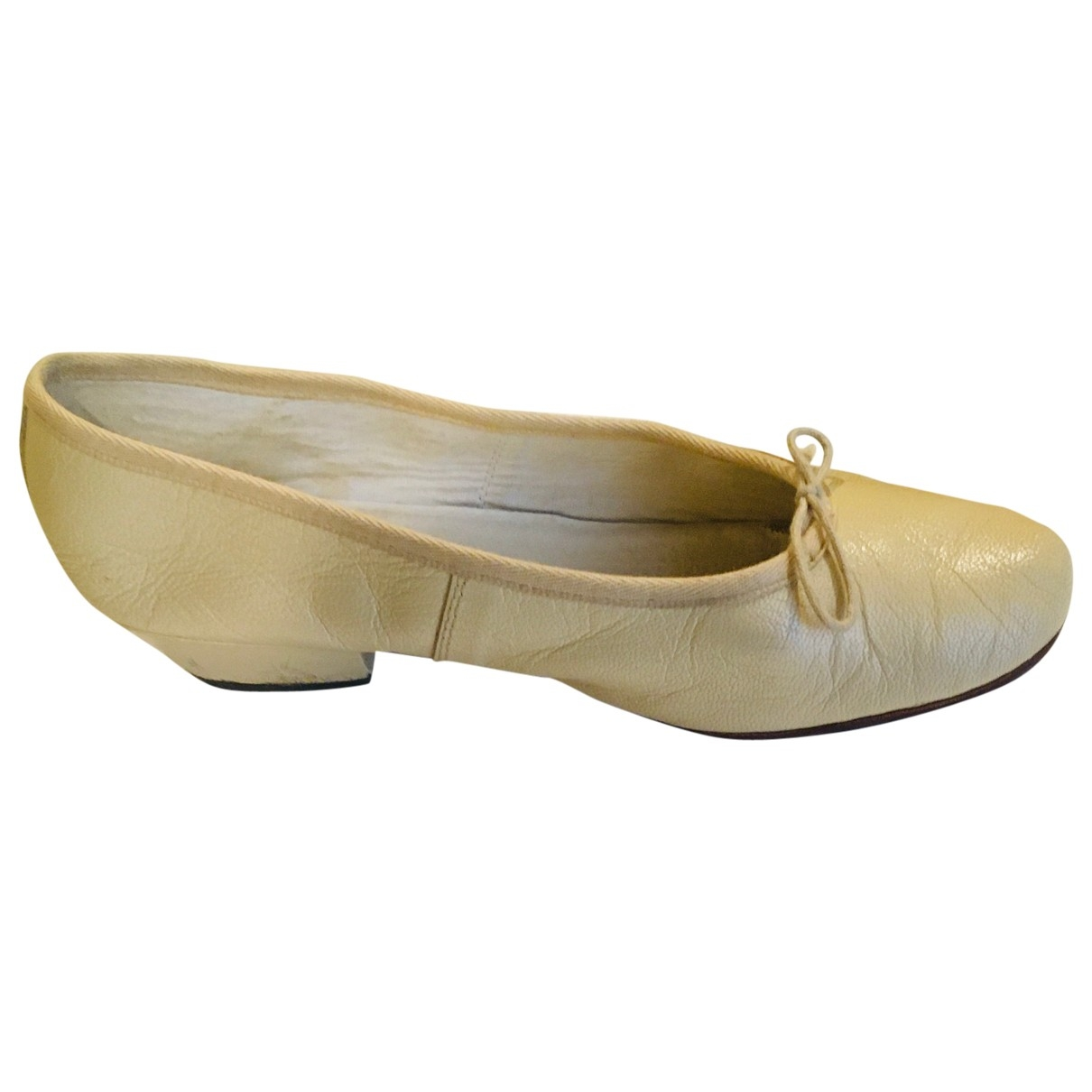 Repetto \N Beige Leather Ballet flats for Women 40.5 EU