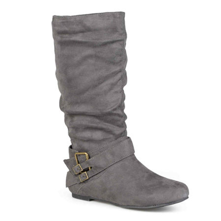 Journee Collection Womens Shelley Slouch Boots, 8 Medium, Gray