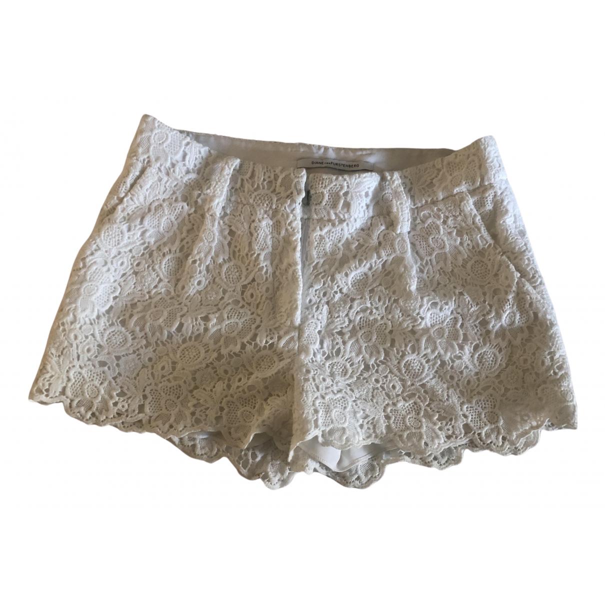 Diane Von Furstenberg \N White Cotton Shorts for Women S International