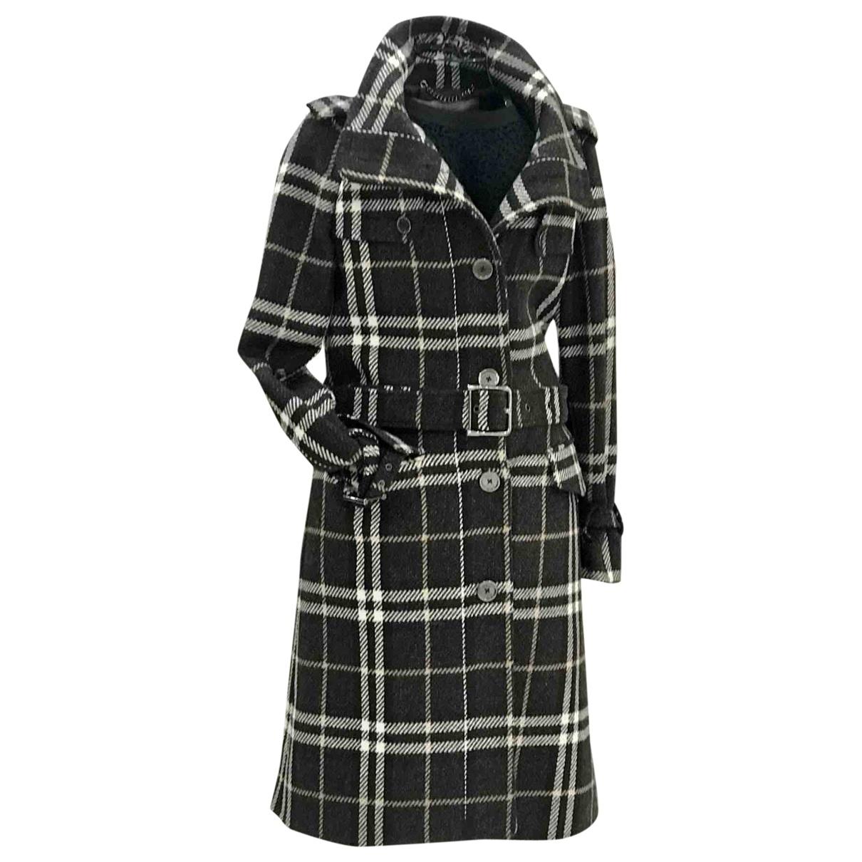 Burberry \N Brown Wool coat for Women 44 IT