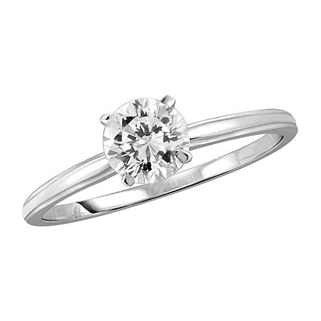 Womens 1 1/10 CT. T.W. White Cubic Zirconia Sterling Silver Promise Ring, 8 , No Color Family