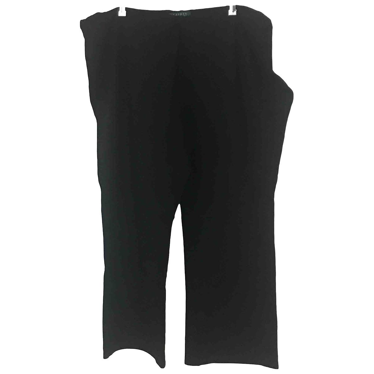Lauren Ralph Lauren \N Black Trousers for Women 18 US