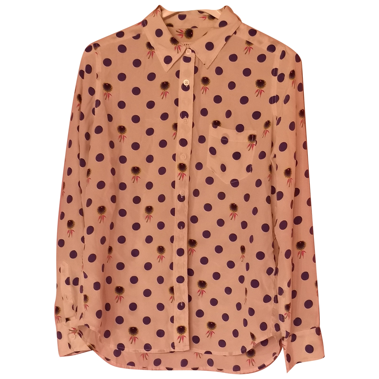 Equipment \N Beige Silk  top for Women M International