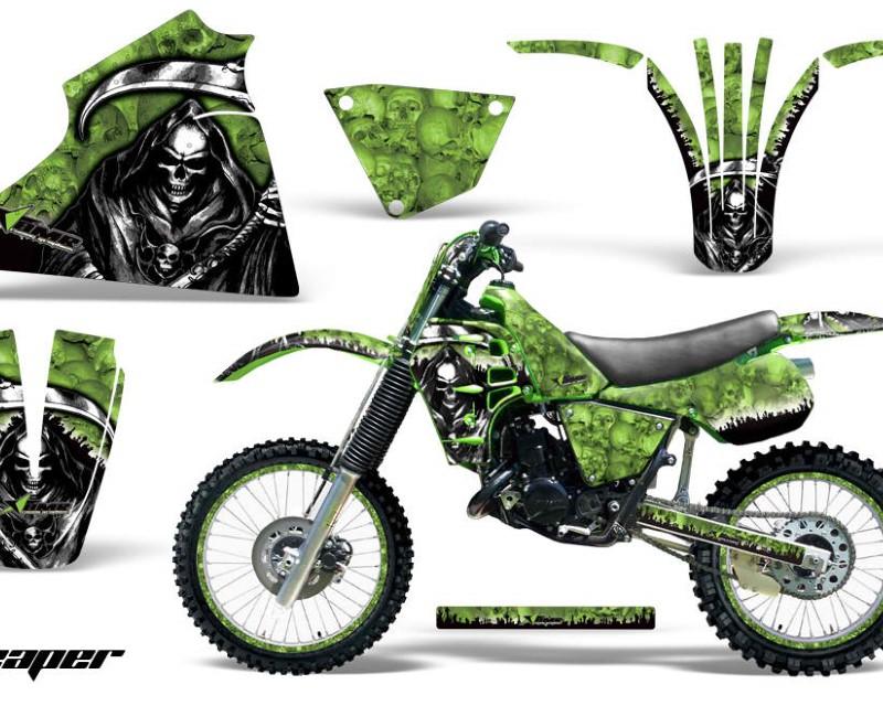 AMR Racing Graphics MX-NP-KAW-KX125-83-85-RP G Kit Decal Sticker Wrap + # Plates For Kawasaki KX125 1983-1985áREAPER GREEN