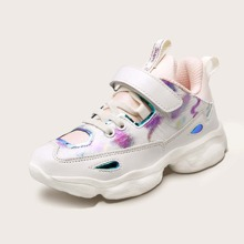 Girls Holographic Detail Velcro Strap Sneakers